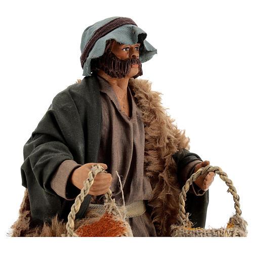 Spice seller figure, 24 cm Neapolitan nativity 2