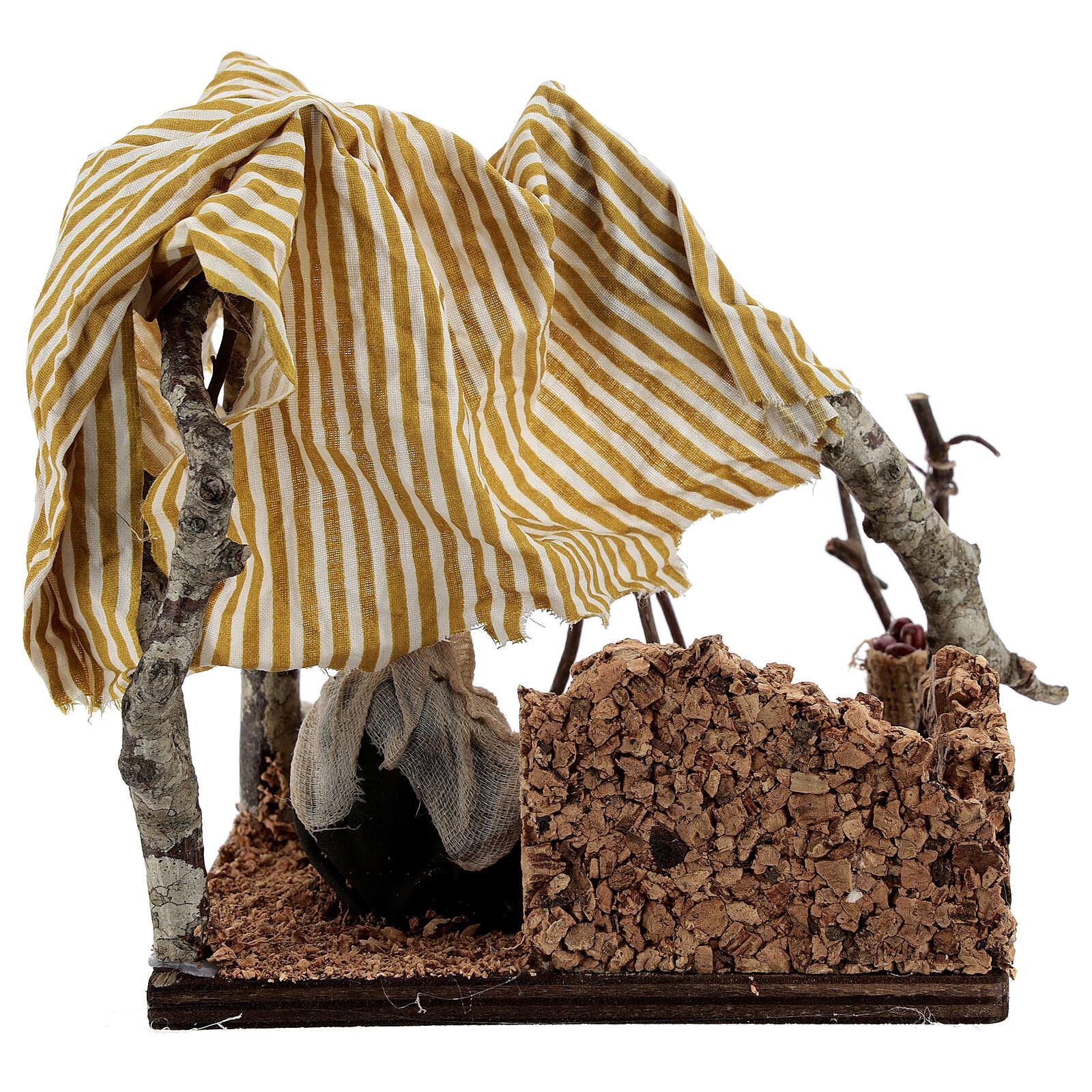 Tent with bivouac Neapolitan Nativity scene 10 cm 4