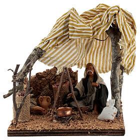 Tent with bivouac Neapolitan Nativity scene 10 cm s1