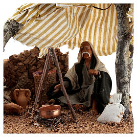 Man with bivouac, 10 cm Neapolitan nativity s2