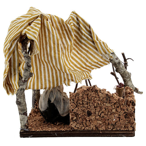 Man with bivouac, 10 cm Neapolitan nativity 5