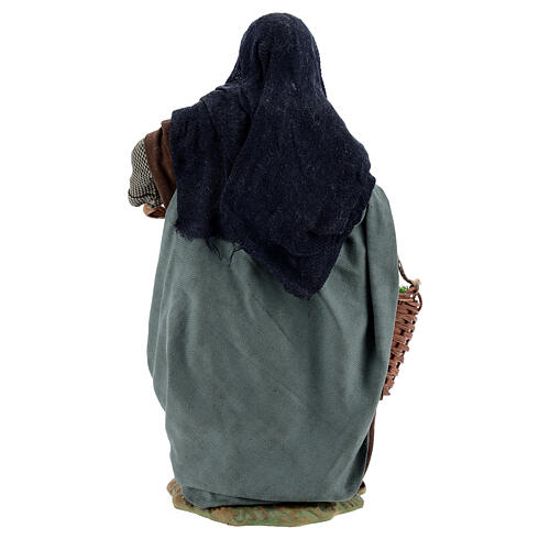 Femme avec pommes crèche napolitaine 24 cm 5