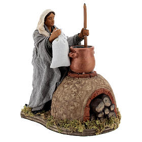 Polenta maker Neapolitan Nativity scene movement 24 cm s4