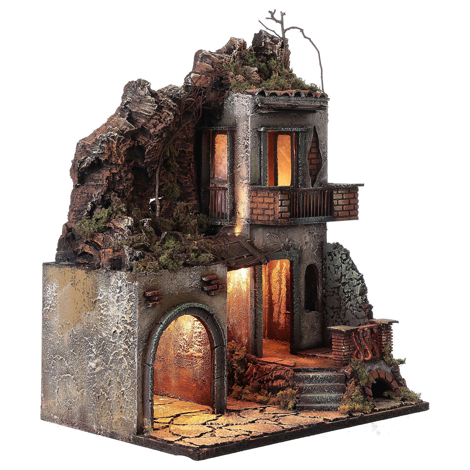 Maison avec étable 50x30x40 cm crèche Naples 12 cm 4
