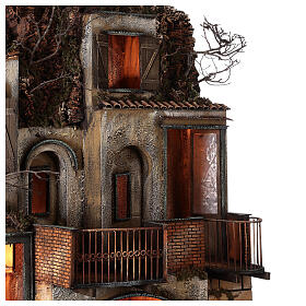 Village with stable and fountain 135x40x60 cm Neapolitan Nativity Scene with 24-30 cm figurines s8
