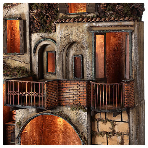 Village with stable and fountain 135x40x60 cm Neapolitan Nativity Scene with 24-30 cm figurines 7