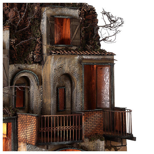 Village with stable and fountain 135x40x60 cm Neapolitan Nativity Scene with 24-30 cm figurines 8