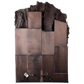 Aldeia com estábulo e fonte para presépio napolitano com figuras de altura média 24-30 cm, medidas: 135x40x60 cm s9