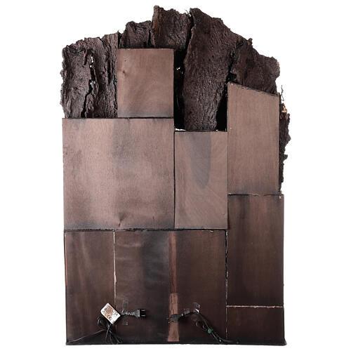 Aldeia com estábulo e fonte para presépio napolitano com figuras de altura média 24-30 cm, medidas: 135x40x60 cm 9