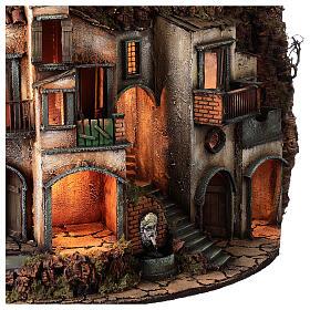 Village semi-circulaire napolitain meule 115x80x60 cm crèche 10-13 cm s6