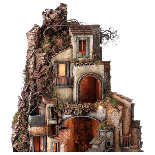 Borgo macina napoletano semi circolare 115x80x60 cm presepe 10-13 cm 5