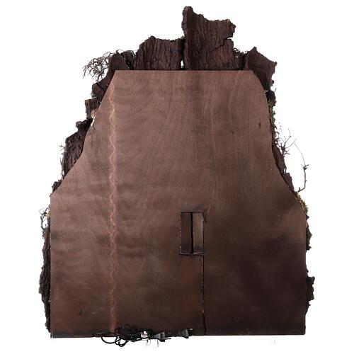 Borgo macina napoletano semi circolare 115x80x60 cm presepe 10-13 cm 11