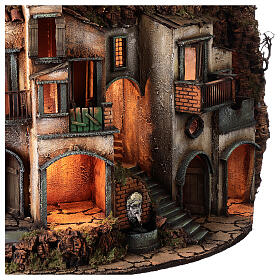 Semicircular village with millstone 115x80x60 cm for Neapolitan Nativity Scene with 10-13 cm figurines s6