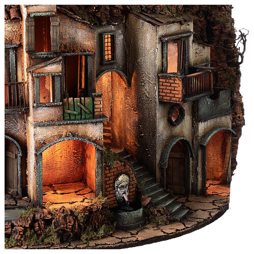 Semicircular village with millstone 115x80x60 cm for Neapolitan Nativity Scene with 10-13 cm figurines 6