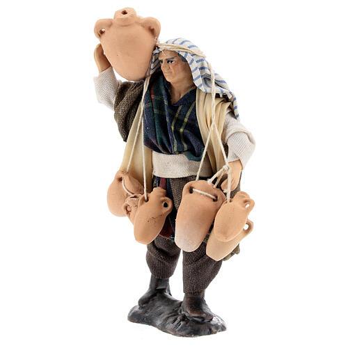 Uomo con anfore statua terracotta 12 cm presepe napoletano 2