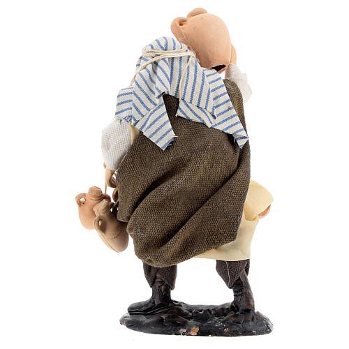 Homem com ânforas para presépio napolitano terracota com figuras de altura média 12 cm 4