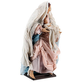 Statua Madonna Bambino presepe napoletano terracotta 50 cm s4