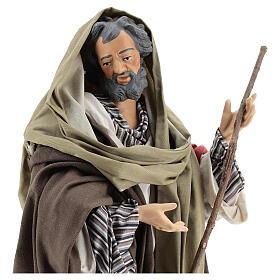 São José imagem terracota para presépio napolitano com figuras de altura média 50 cm s4