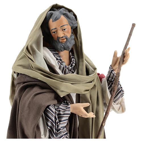 São José imagem terracota para presépio napolitano com figuras de altura média 50 cm 4