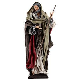 St Joseph statue, terracotta Neapolitan nativity 50 cm s1