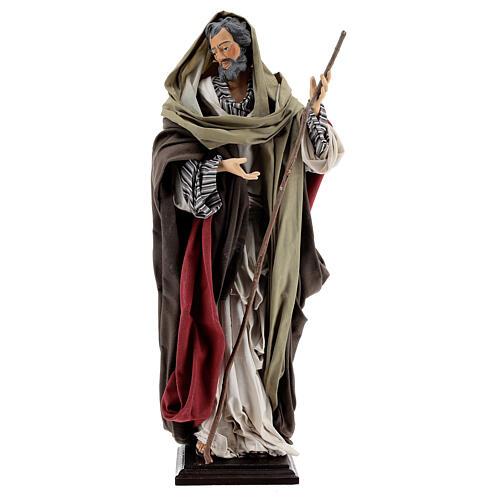 St Joseph statue, terracotta Neapolitan nativity 50 cm 1