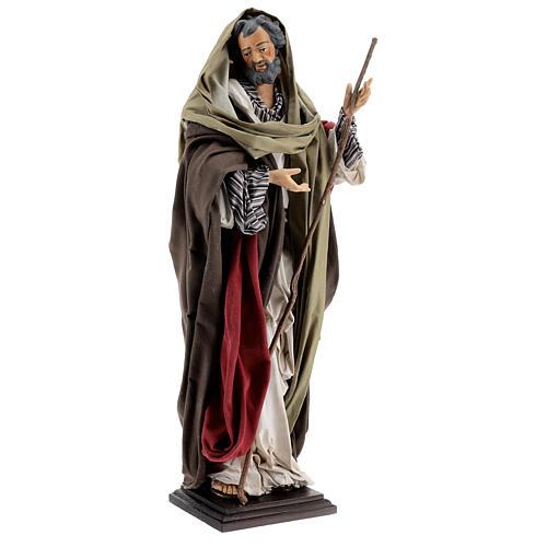 St Joseph statue, terracotta Neapolitan nativity 50 cm 3