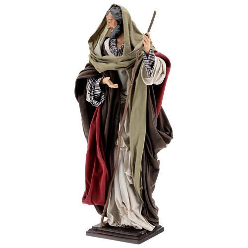 St Joseph statue, terracotta Neapolitan nativity 50 cm 5