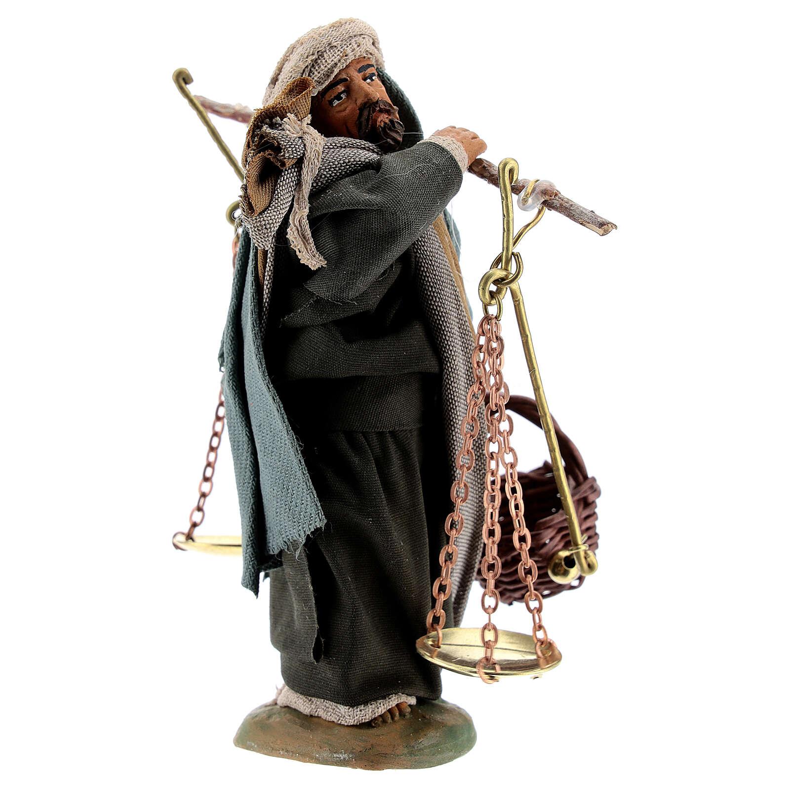 Man with scales figurine, 10 cm Neapolitan Nativity 4