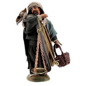 Man with scales figurine, 10 cm Neapolitan Nativity s1