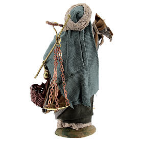 Man with scales figurine, 10 cm Neapolitan Nativity s4