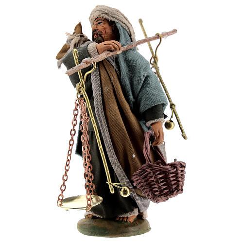 Man with scales figurine, 10 cm Neapolitan Nativity 2