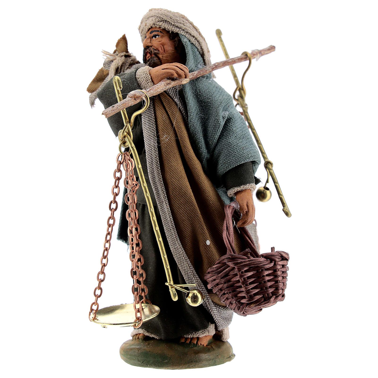 Homme avec balances crèche napolitaine 10 cm 4