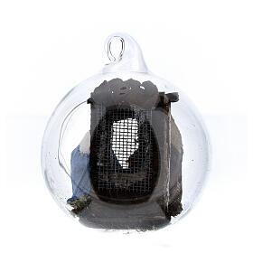 Boule en verre Nativité crèche napolitaine 6 cm s4