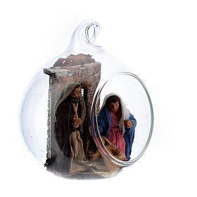 Holy Family set in glass 6 cm Neapolitan nativity s3
