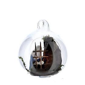 Holy Family in glass ball Neapolitan 6 cm s4