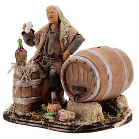Drunken man, barrels and flasks Neapolitan Nativity scene 13 cm s3