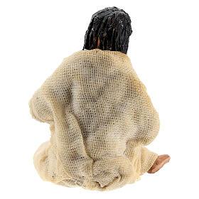Woman in labour Neapolitan terracotta nativity scene 10 cm s4