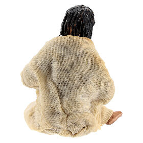 Pregnant woman figure terracotta Neapolitan nativity 10 cm s4