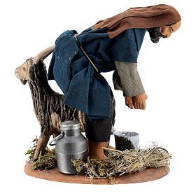 Goat milker 15 cm figurine Neapolitan Nativity Scene s1
