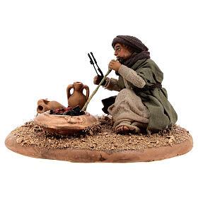 Man with fire 10 cm figurine Neapolitan Nativity Scene s2