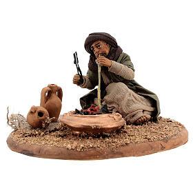 Man with fire 10 cm figurine Neapolitan Nativity Scene s3