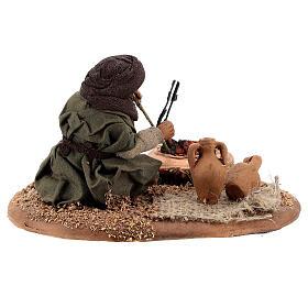Man with fire 10 cm figurine Neapolitan Nativity Scene s4