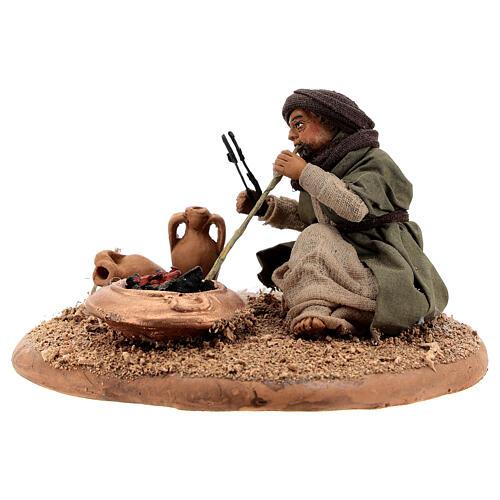 Man with fire 10 cm figurine Neapolitan Nativity Scene 2