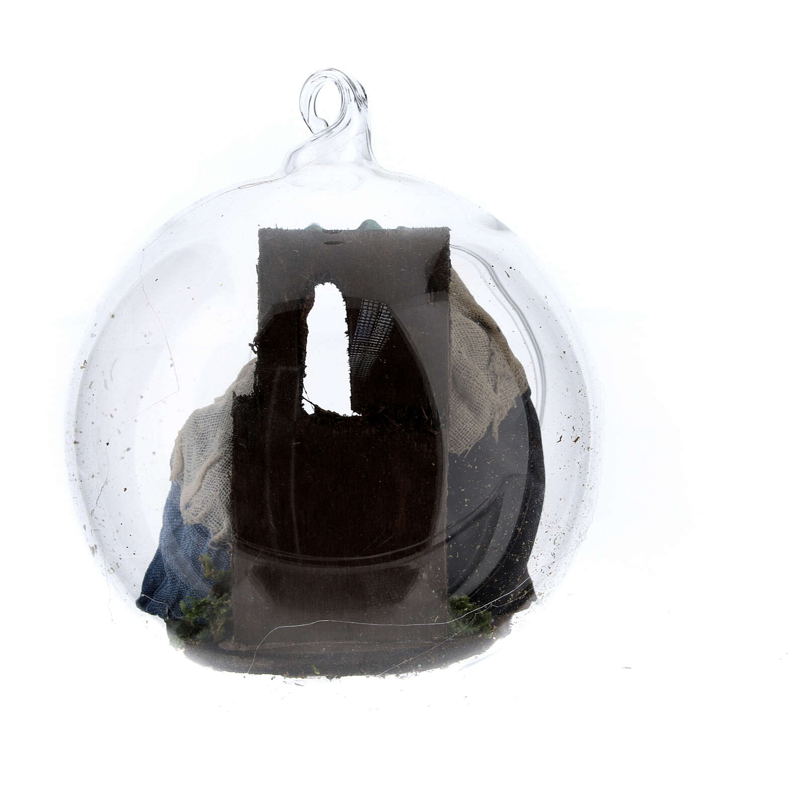 Holy Family in glass ball Neapolitan nativity 7 cm 4