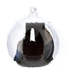 Holy Family in glass ball Neapolitan nativity 7 cm s4