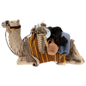 Camel with child in basket 15 cm figurine Neapolitan Nativity Scene s4