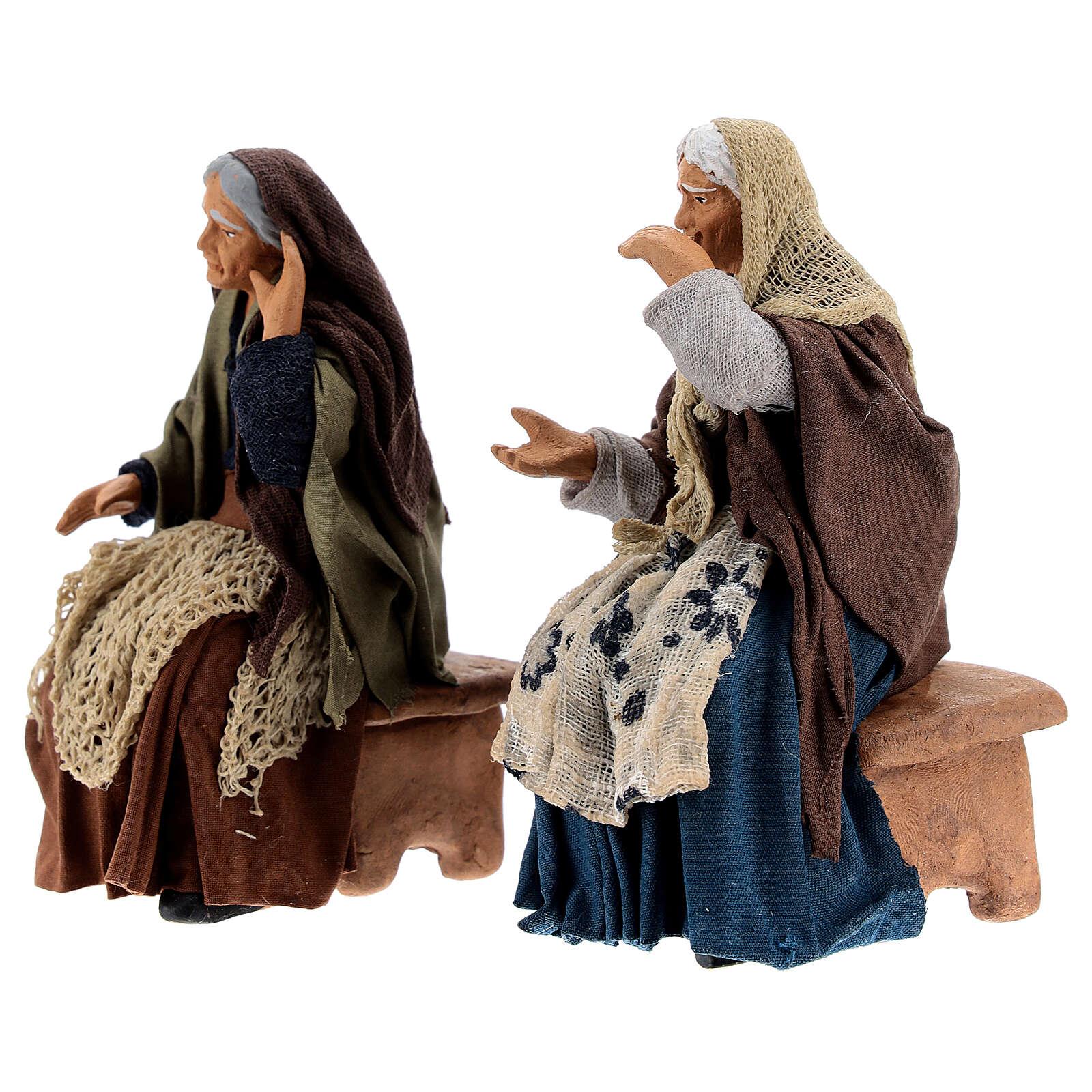 Gossiping women Neapolitan nativity 13 cm 4