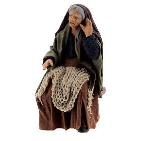 Gossiping women Neapolitan nativity 13 cm s4