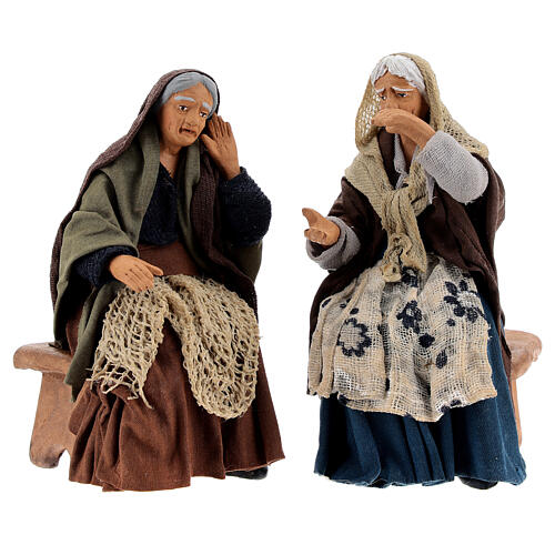 Gossiping women Neapolitan nativity 13 cm 1