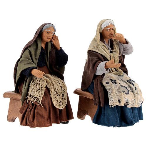 Gossiping women Neapolitan nativity 13 cm 5
